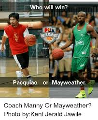 Pacquiao Mayweather Memes - ho will win pacquiao or mayweather coach manny or mayweather photo
