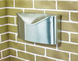 Wall Mount Mailbox With Flag Umbra Postino Wall Mount Mailbox Stainless Steel Modern Mailbox