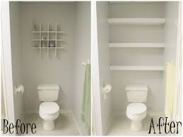Small Guest Bathroom Ideas by Bathroom Enjoyable Before And After White Wooden Towel Storage