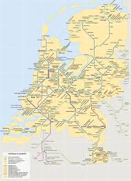 Rail Map Of Europe by Train Map Of The Netherlands 1134x1572 Mapporn