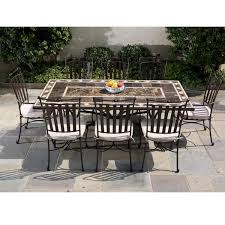 Galileo Marble Mosaic Dining - Upscale outdoor furniture