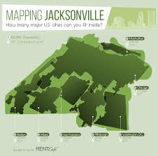 Jacksonville Map Mapping Jacksonville City How Many Major U S Cities Can You Fit