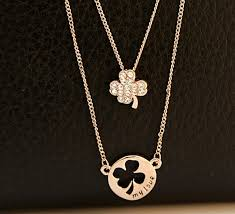 gold clover pendant necklace images Wholesale wholesale new fashion jewelry wholesale black and white jpg