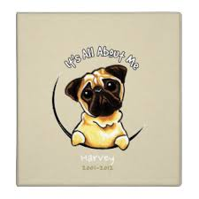 Personalized Dog Photo Album Pug Memorial Gifts On Zazzle