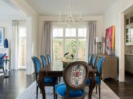 blue dining room transitional dining room traci connell interiors