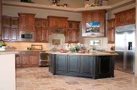 honey oak kitchen cabinets wall color quartz countertops cherry wood cabinets kitchen lighting flooring