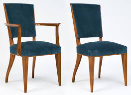french art deco cherrywood dining chairs set jean marc fray