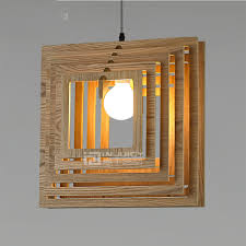 japanese wood e27 led light pendant ceiling lamp droplight loft