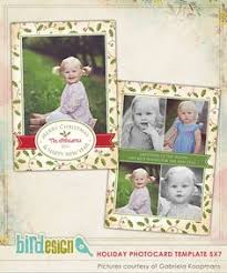 holiday christmas card template for photographers 5x7 photo card