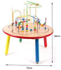wooden bead toy table bead maze table large wooden bead maze toy game table view game