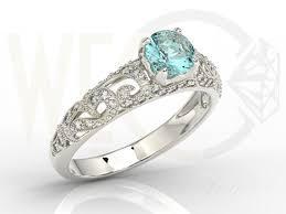 pierscionek zareczynowy pierścionek zaręczynowy z białego złota z topazem i diamentami bp