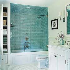 Bathroom Tile 15 Inspiring Design by Master Bathroom With Blue Subway Tiled Shower In Sag Harbor Home