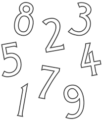 number 13 coloring page getcoloringpages com