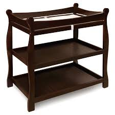 Espresso Changing Table Badger Basket Sleigh Changing Table Espresso Walmart