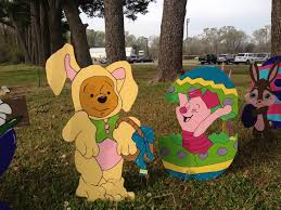 Wooden Outdoor Easter Decorations by Winnie The Pooh Easter Yard Art My Diy Projects Party House