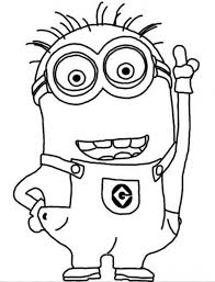 minions easy coloring pages coloring