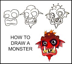 how to draw a monster step by step art guide daryl hobson artwork