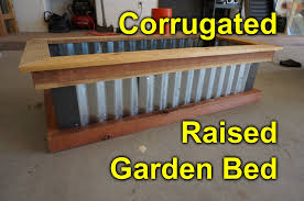 Corrugated Metal Planters by Corrugated Raised Garden Bed Diy Easy Build Project To Beautify