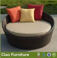 outdoor round daybed rattan garden sun bed manufacturer from