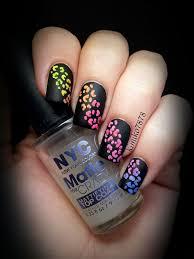 kimiko u0027s nail art neon rainbow cheetah gradient