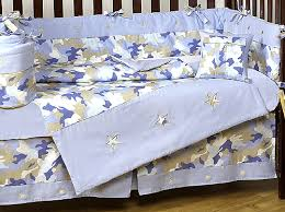 Camo Crib Bedding For Boys Camo Baby Bedding Khaki Blue Camo By Jojo Only 189 99