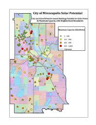 Map Of Minneapolis Mn Solar Potential On Public Buildings In Kansas City Minneapolis