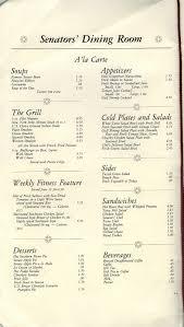 US Senate Restaurant Menu Nomad - Dining room menu
