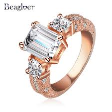 gold promise rings promise rings women fashion gold color clear austrian