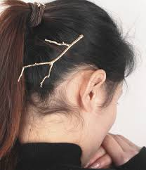 simple style design metal leaves hairpin side folder