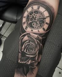 leg tattoo designs guys 80 timeless pocket watch tattoo ideas a classic and fashionable