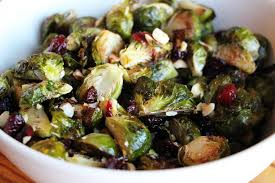 roasted brussels sprouts with dried cranberries toasted hazelnuts
