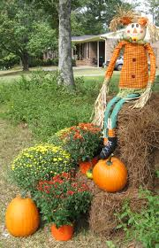 fall outdoor decorating with hay bales fall decorating ideas