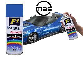 f1 aerosol spray paint blue for multipurpose for car bike cycle