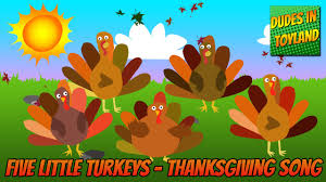five turkeys thanksgiving songs for children animated