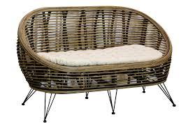 banquette rotin vintage meubles et fauteuils en rotin pour la maison pier import