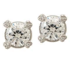 judith ripka earrings judith ripka sterling 3 00ct 100 facet diamonique stud earrings
