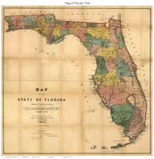 Map Florida Counties by Old Maps Of Florida