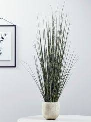 new faux potted ornamental grass flowers grasses