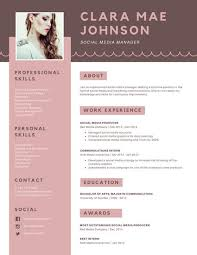 pink brown simple photo modern resume templates by canva