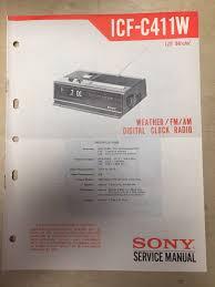 sony clock radio manual sony service manual for the icf c411w clock radio receiver