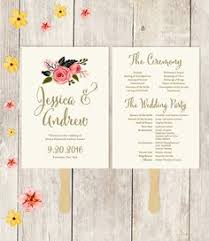 how to make fan wedding programs wedding fans rustic wedding program fan rustic fans ivory