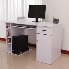 Schreibtisch Mit Computertisch Homcom Computertisch Schreibtisch Bürotisch Mit Schrank Pc Tisch