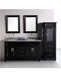 Bathroom Vanity With Side Cabinet Bargains On Design Element Hudson 60 Inch Sink Bathroom