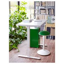 Adjustable Stand Up Sit Down Desk by Skarsta Desk Sit Stand White 120x70 Cm Ikea