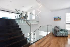 Glass Staircase Banister Glass Staircase Balustrades In Melbourne Totally Frameless