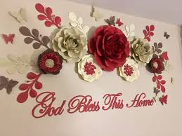 home decor events red beige ivory brow paper flower set for home decor events nursery