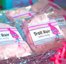cotton candy party favor 20 terrific trolls party ideas pretty my party