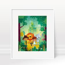 Wizard Of Oz Bedroom Decor Wizard Of Oz Nursery Wall Art Print Kids Room Decor New