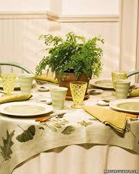 leaf print tablecloth martha stewart
