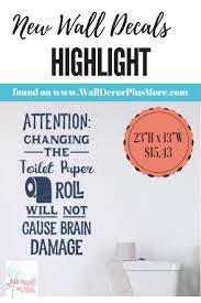 61 best bathroom images on pinterest toilet paper brain damage bathroom humor wall decal letters funny vinyl wall stickers